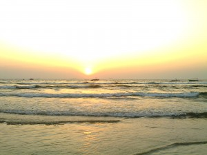Baga beach during Sunset